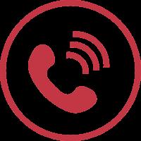 אייקון של טלפון וקווים של דיבור - תרגול אנגלית בטלפון